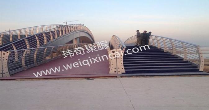 青岛灵山湾旅游度假区大卢河景观桥聚脲工程
