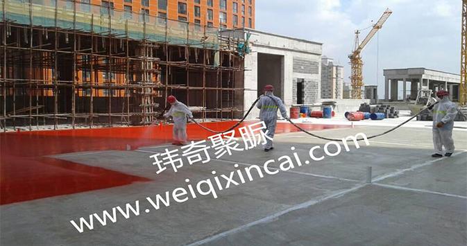 哈尔滨华鸿-红星美凯龙商业广场屋面聚脲防水工程