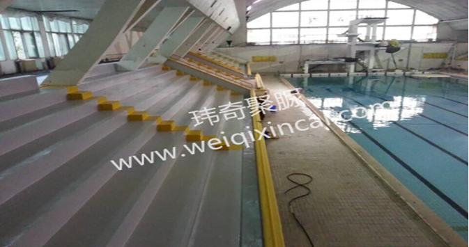 湖南长沙体育总局游泳馆看台聚脲涂料